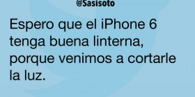 iPhone 6 con linterna