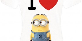 Camiseta chica I Love Minions