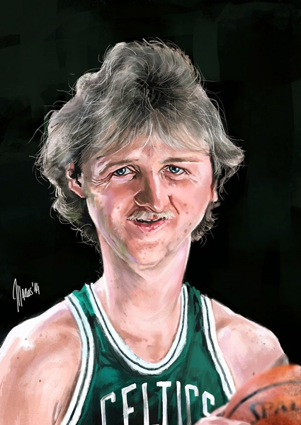 Caricatura de Larry Bird