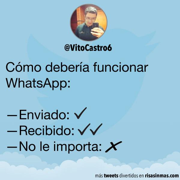 Cómo debería funcionar WhatsApp