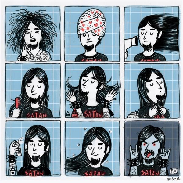 La verdad del pelo del Heavy Metal
