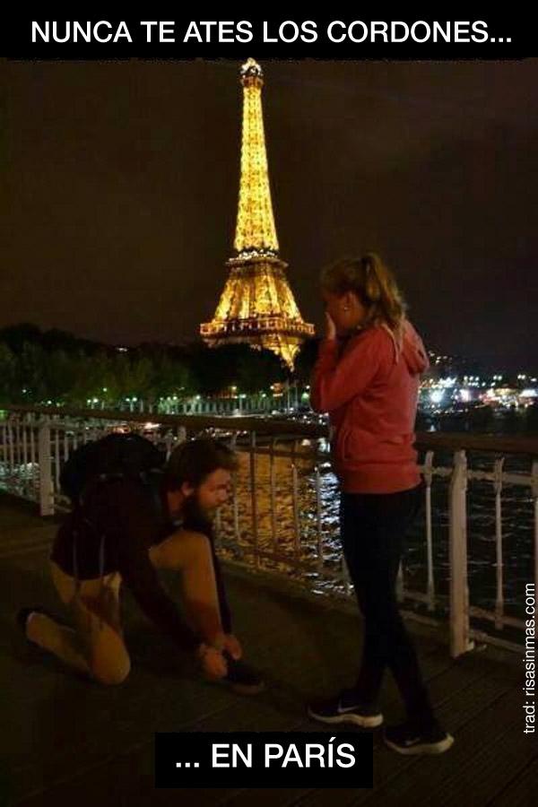 Nunca te ates los cordones en París