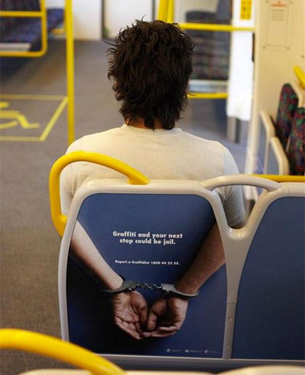 Publicidad muy original en un autobús