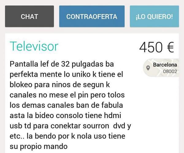 Televisor en venta