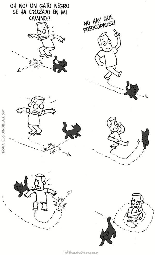 Un gato negro se ha cruzado