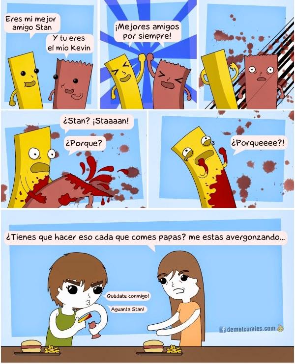 Comiendo patatas