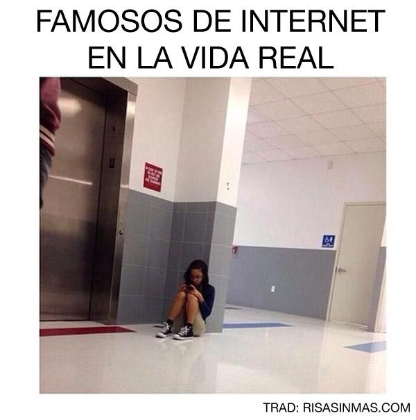 Famosos de Internet en la vida real