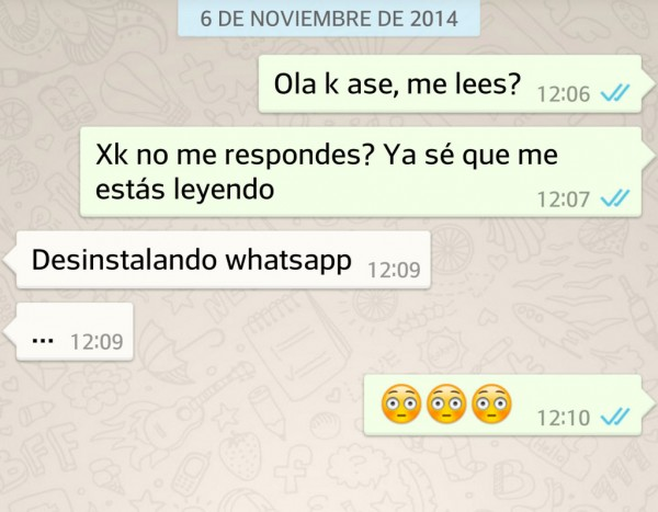 Desinstalando WhatsApp