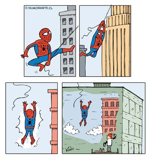 El golpe de Spiderman