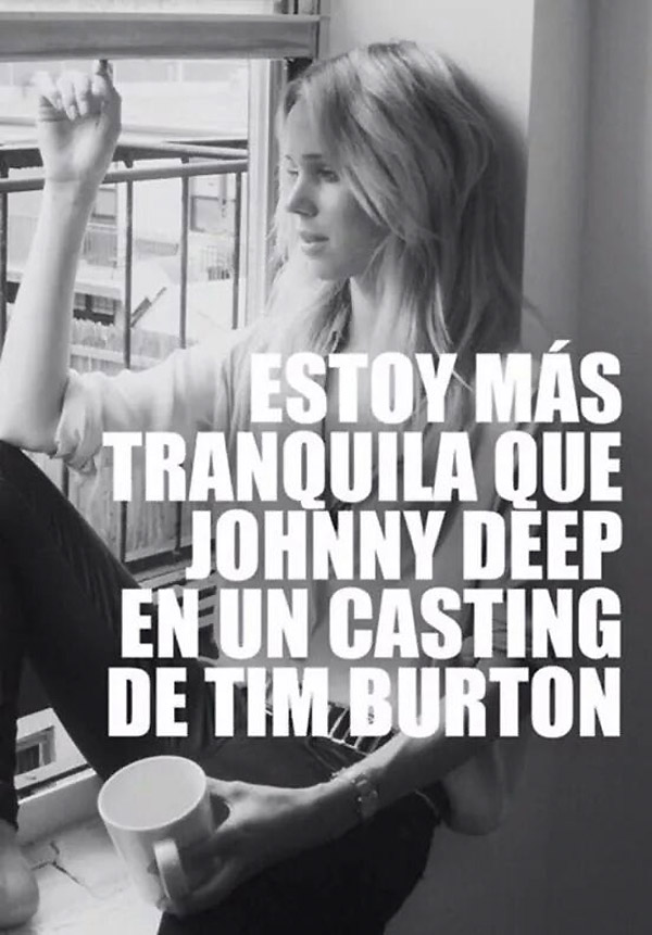 Johnny Deep en un casting de Tim Burton