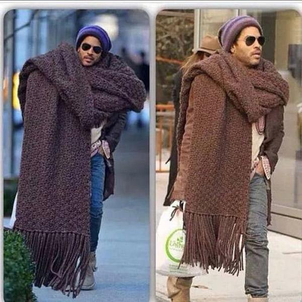 La bufanda de Lenny Kravitz