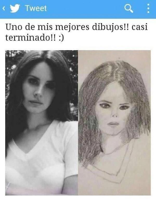 Un dibujo perfecto de Lana del Rey