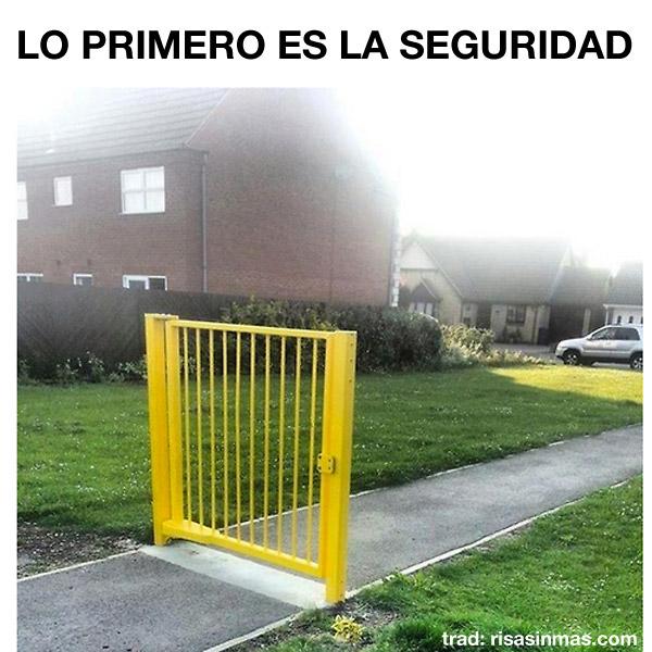 Lo primero es la seguridad