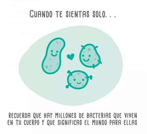 Millones de bacterias viven en tu cuerpo