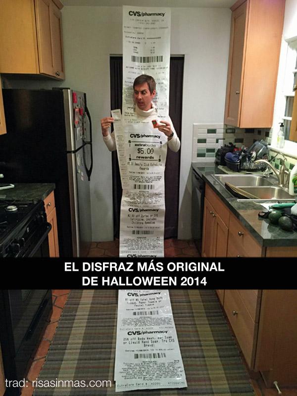 El disfraz más original de Halloween 2014