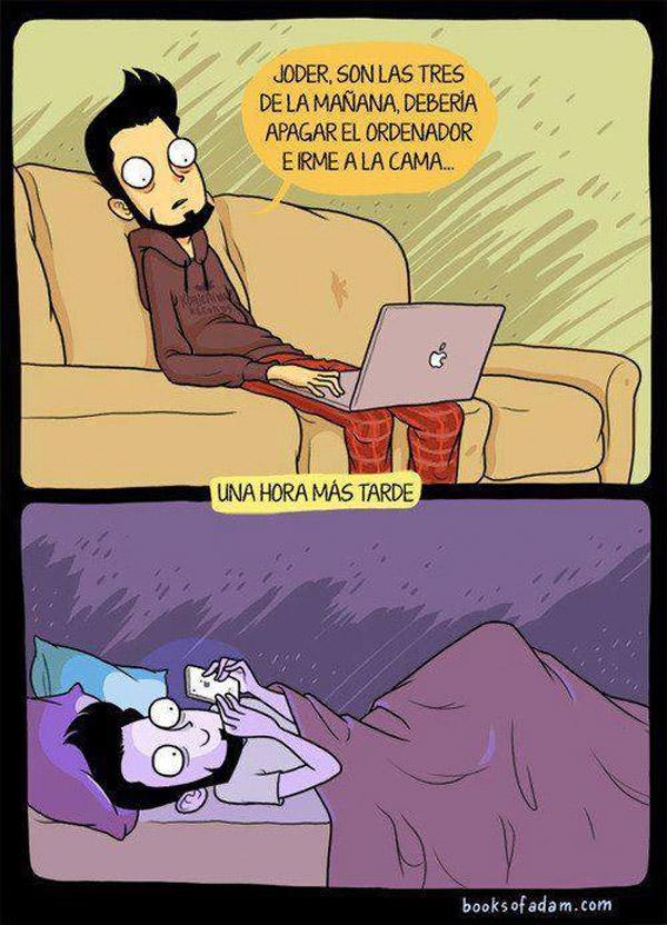 Apagando el ordenador y a la cama