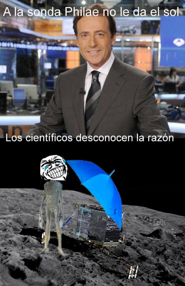 A la sonda Philae no le da el sol
