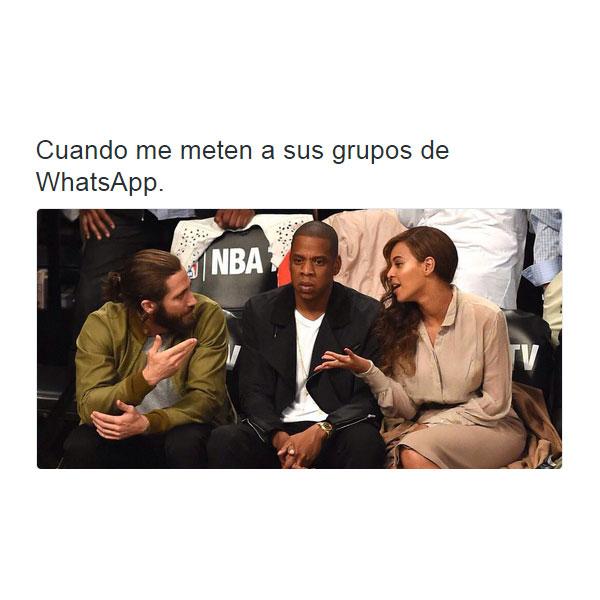 Cuando me meten a sus grupos de WhatsApp