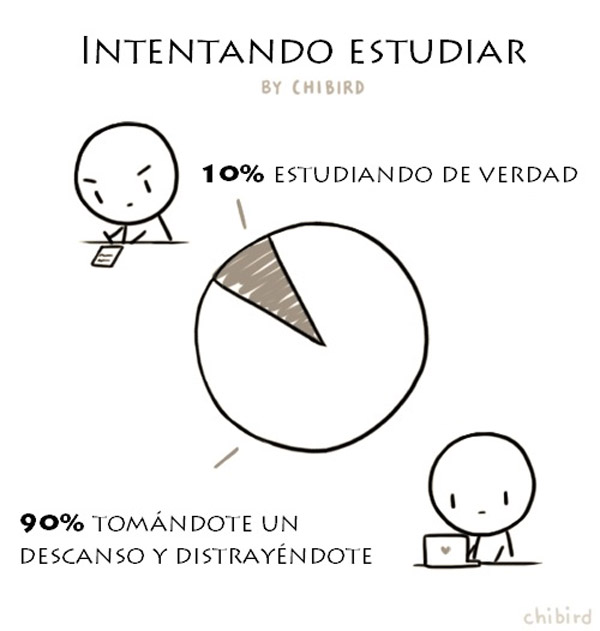 Intentando estudiar