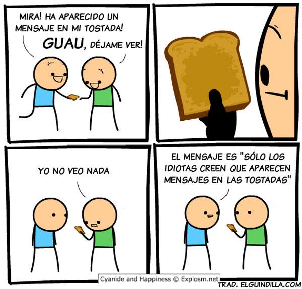 Mensajes en tostadas