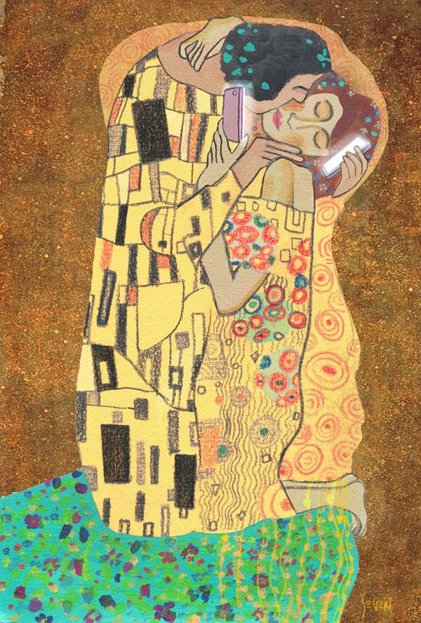 El beso de Gustav Klimt en nuestros tiempos