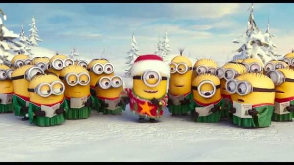 Los minions cantando un villancico