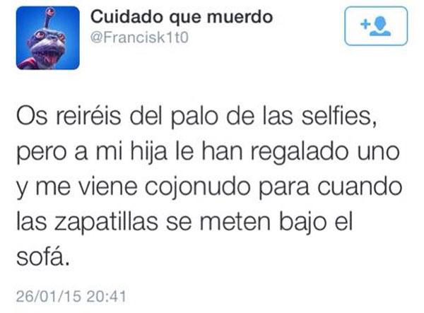 Otro uso del palo para selfies