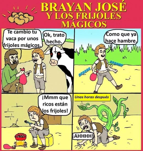 Brayan José y los frijoles mágicos