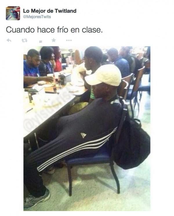Cuando hace frío en clase