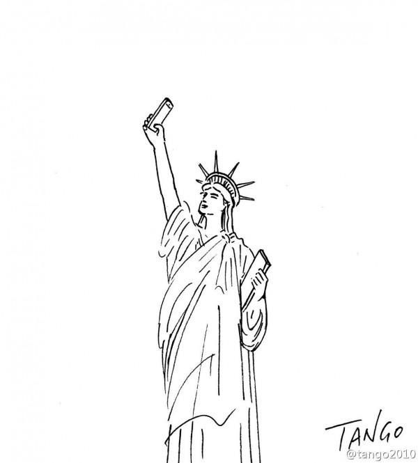 El selfie de la estatua de la Libertad
