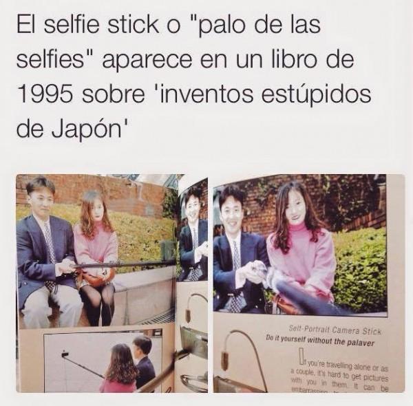 Palo para selfies como invento estúpido