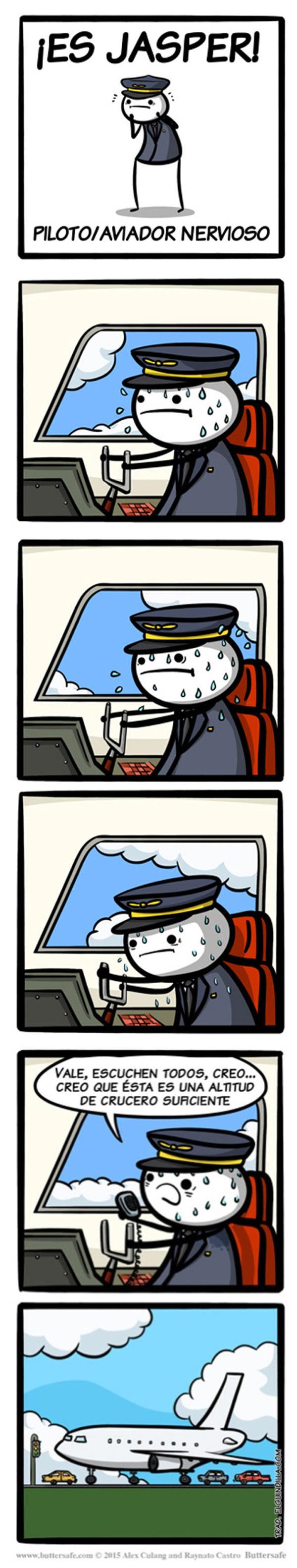 Jasper, el piloto nervioso