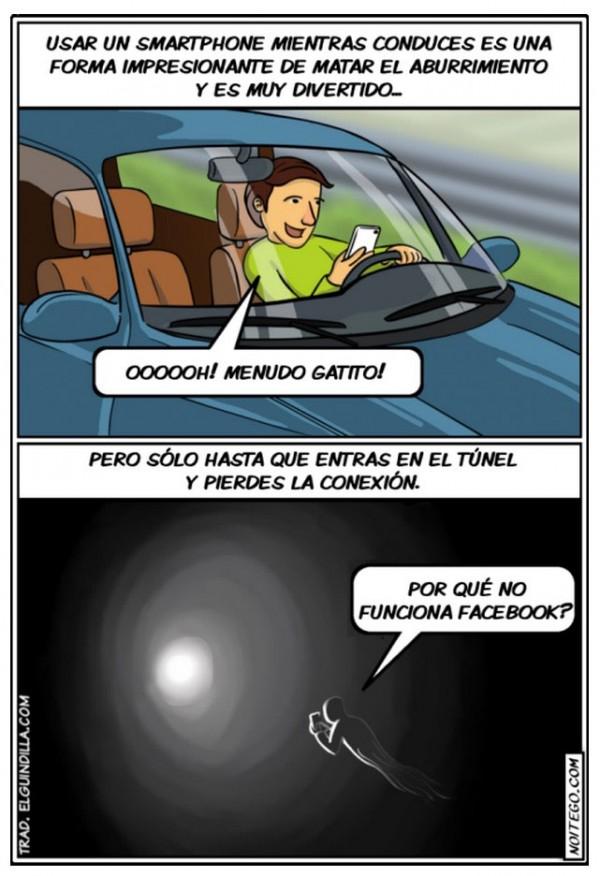 Usar un smartphone mientras conduces