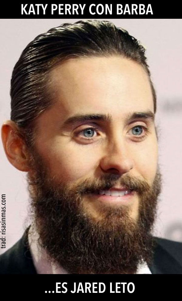 Katy Perry con barba
