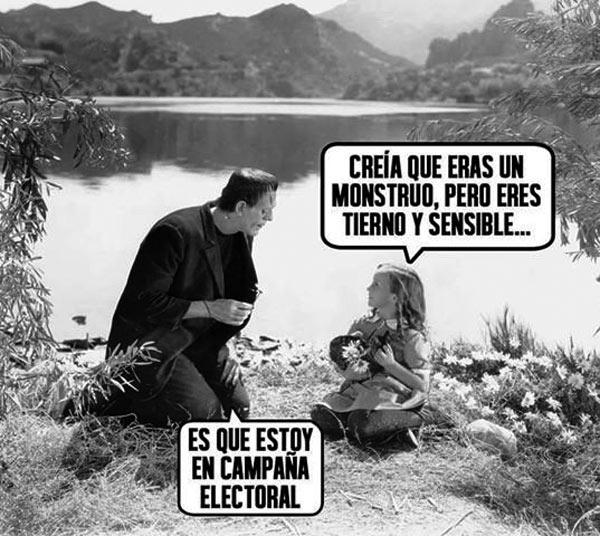 Monstruo en campaña electoral