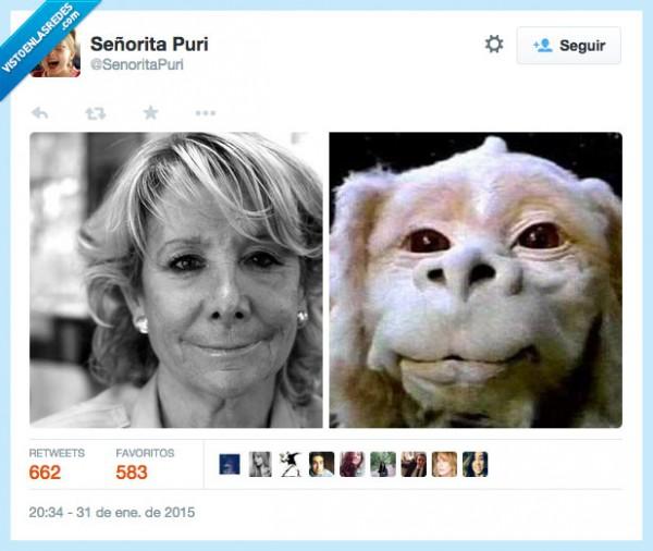 Parecidos razonables: Esperanza Aguirre