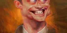 Caricatura de Daniel Radcliffe