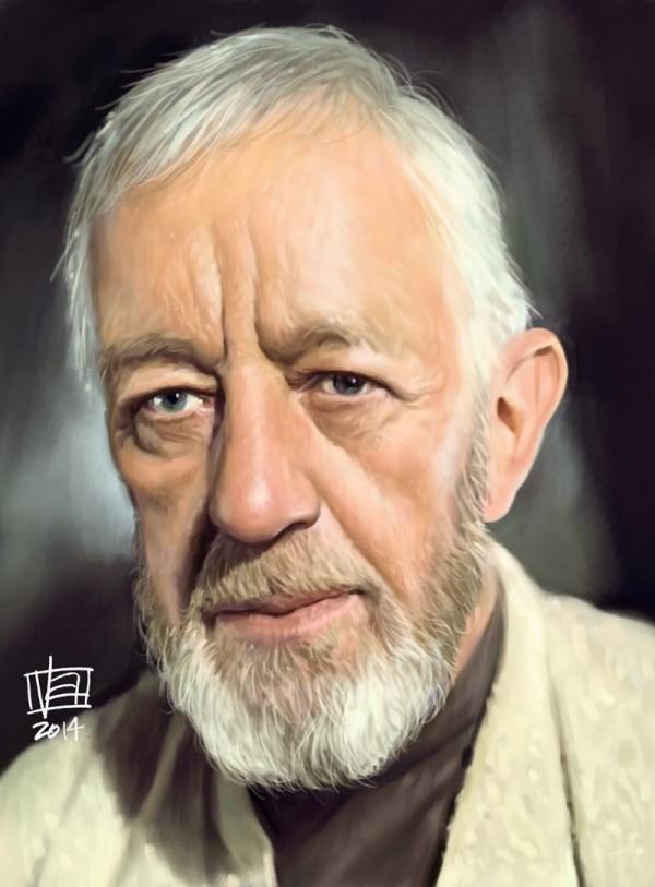 Caricatura de Obi-Wan Kenobi
