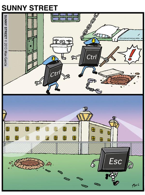 Control y escape