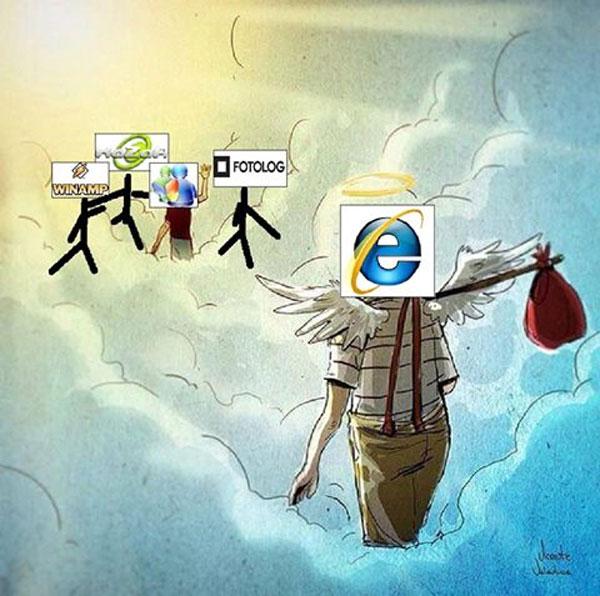 Internet Explorer llega al cielo