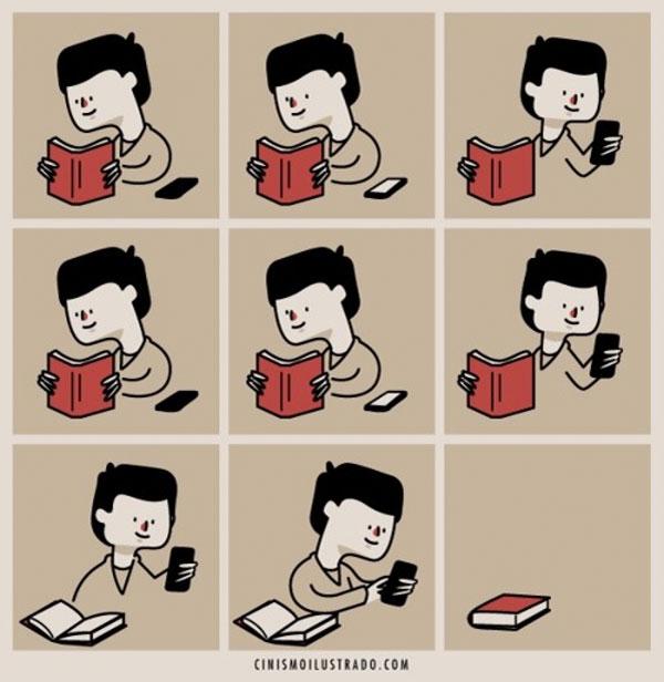 Libros y smartphones
