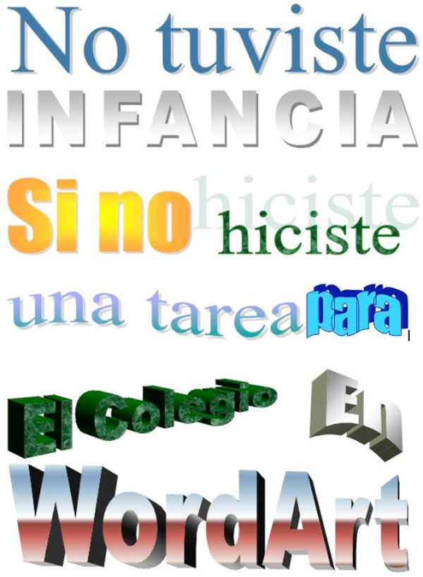 No tuviste infancia: Wordart