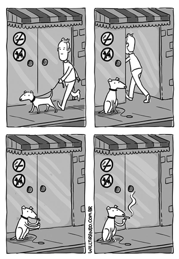 Prohibido fumar, prohibido perros