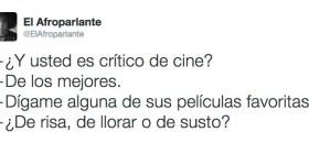 ¿Y usted es crítico de cine?