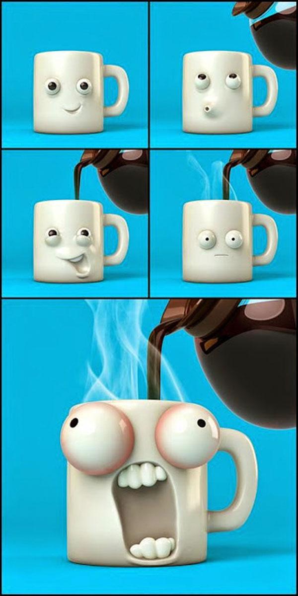 Un café caliente