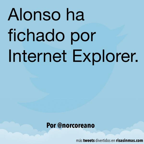 Alonso ha fichado por Internet Explorer