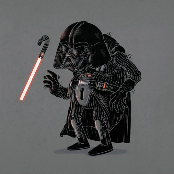 Darth Vader de viejo