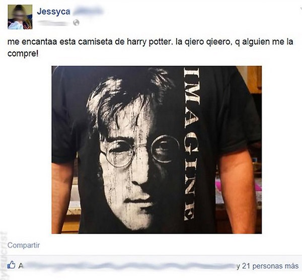 Me encanta esta camiseta de Harry Potter