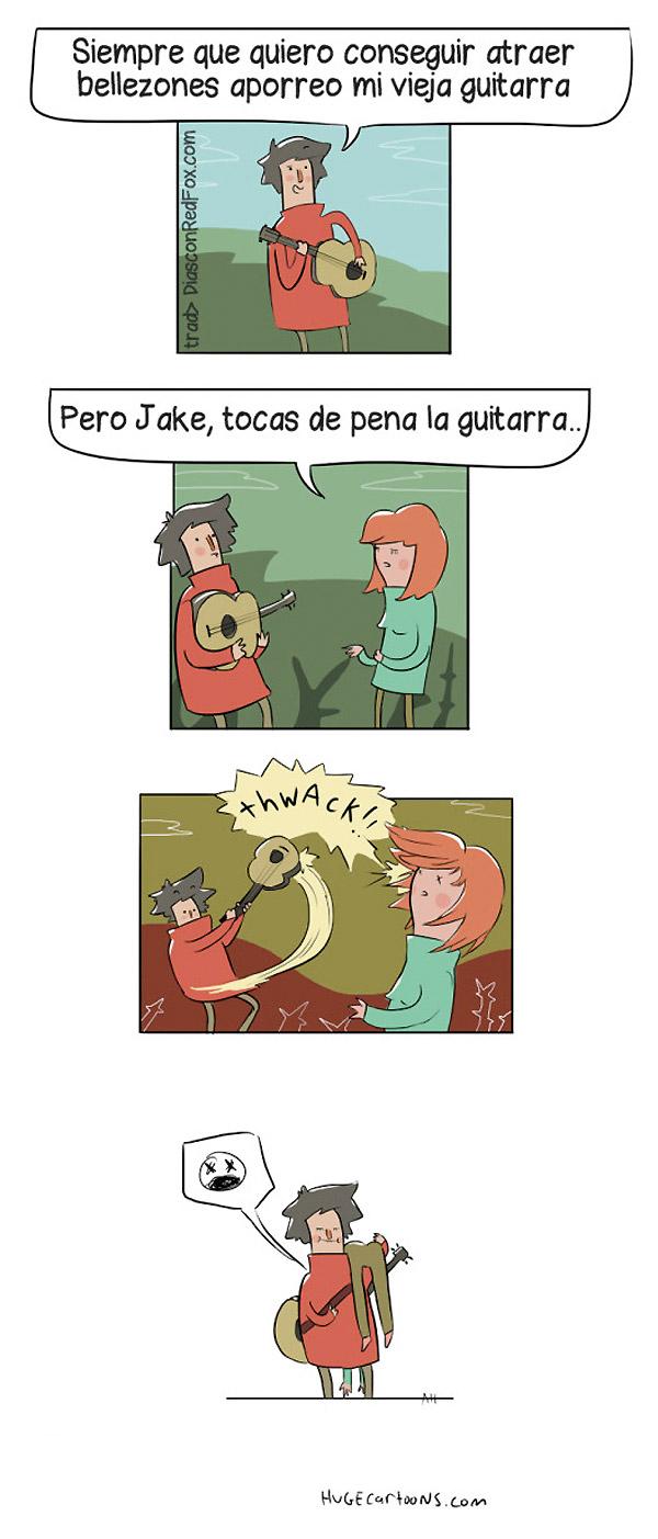 Tocas de pena la guitarra