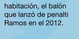 El balón que lanzó de penalti Ramos